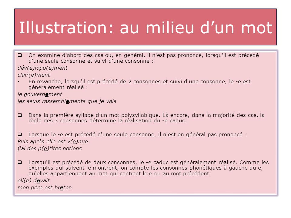 Illustration: au milieu d'un mot