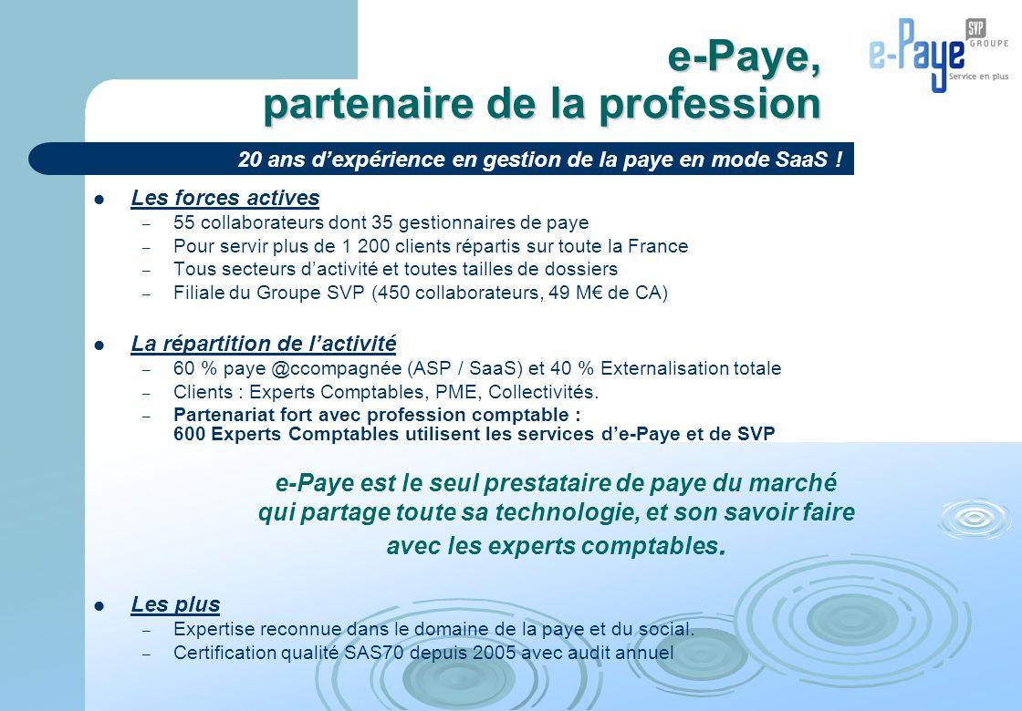 e-Paye, partenaire de la profession