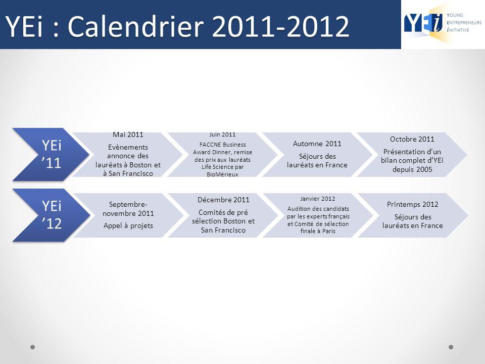 YEi : Calendrier 2011-2012 YEi'11 YEi'12 Mai 2011