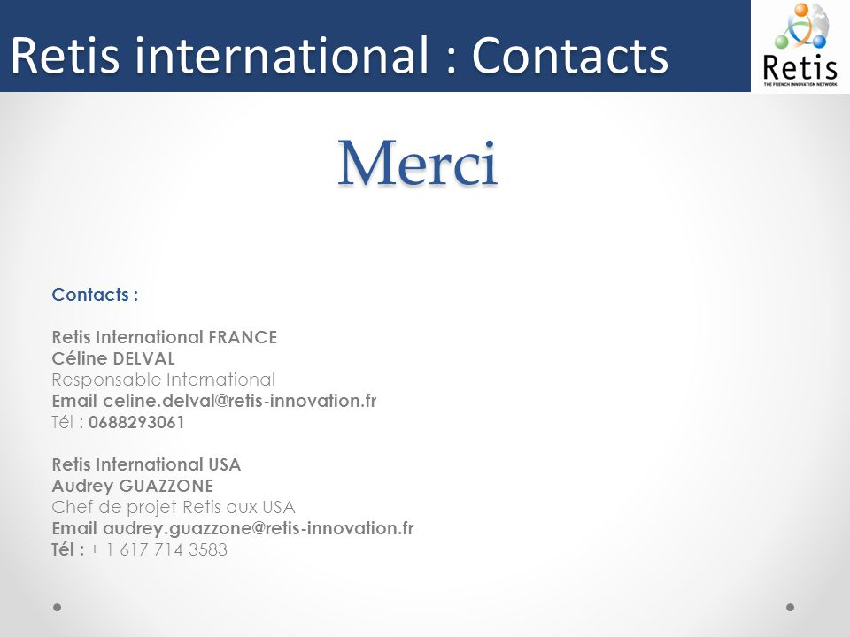 Merci Retis international : Contacts