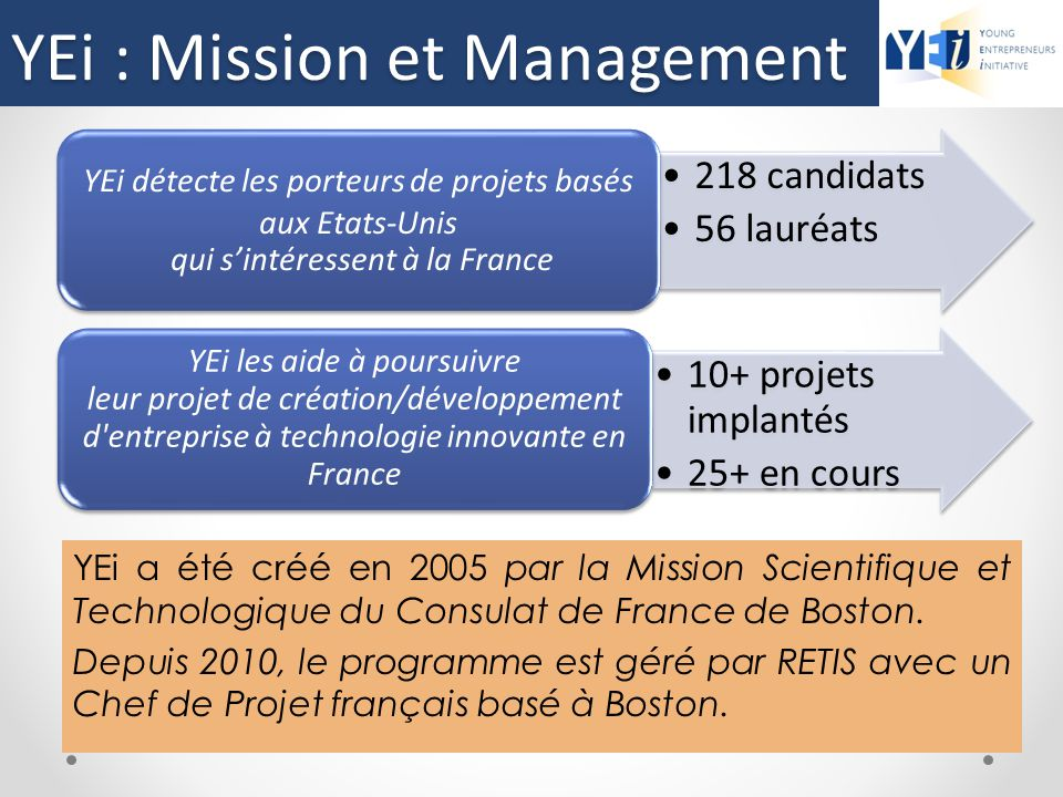YEi : Mission et Management