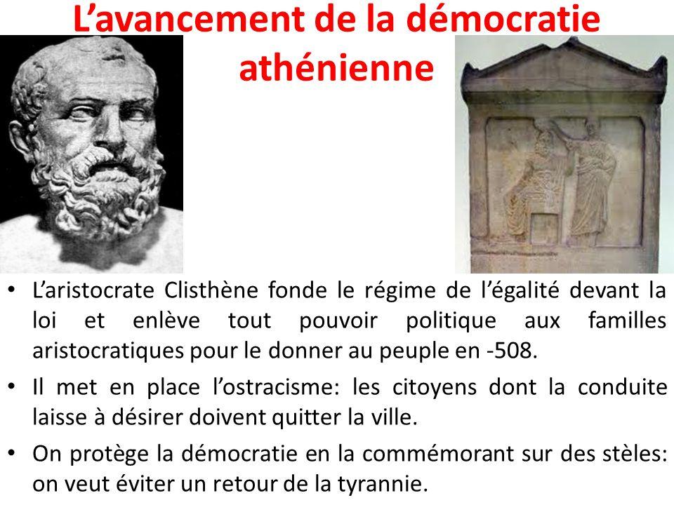 L'avancement de la démocratie athénienne