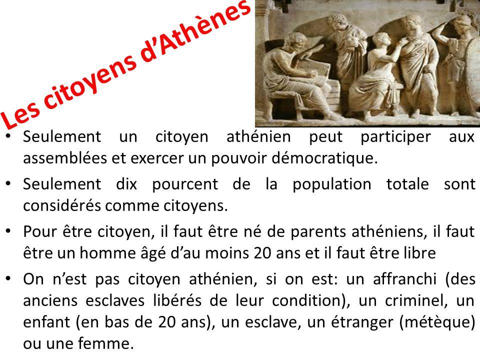 Les citoyens d'Athènes