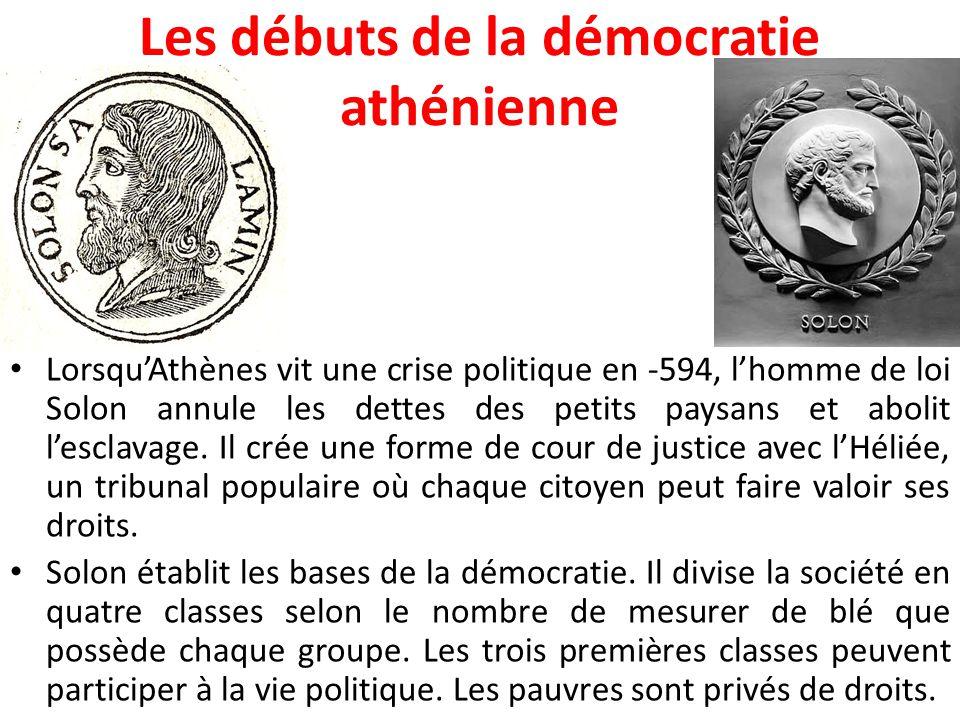 Les débuts de la démocratie athénienne