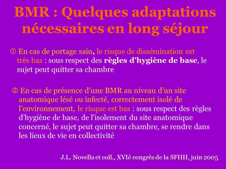BMR : Quelques adaptations nécessaires en long séjour