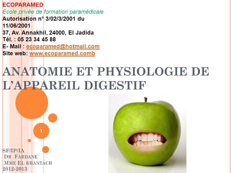 ECOPARAMED Ecole privée de formation paramédicale Autorisation n° 3/02/3/2001 du 11/06/2001 37, Av. Annakhil, 24000, El Jadida Tél. : 05 23 34 45 88 E- Mail : ecoparamed@hotmail.com Site web: www.ecoparamed.comb