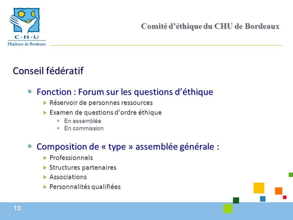 Comité d'éthique du CHU de Bordeaux