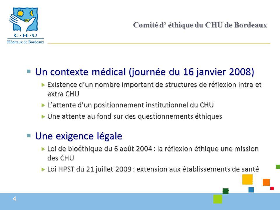 Comité d' éthique du CHU de Bordeaux