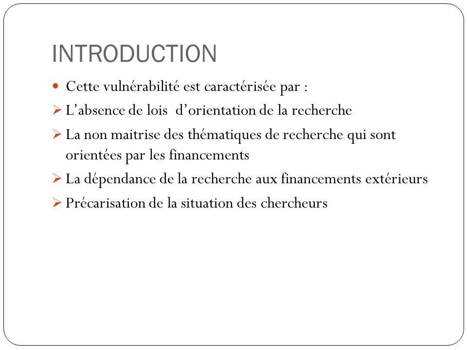 INTRODUCTION Cette vulnérabilité est caractérisée par :