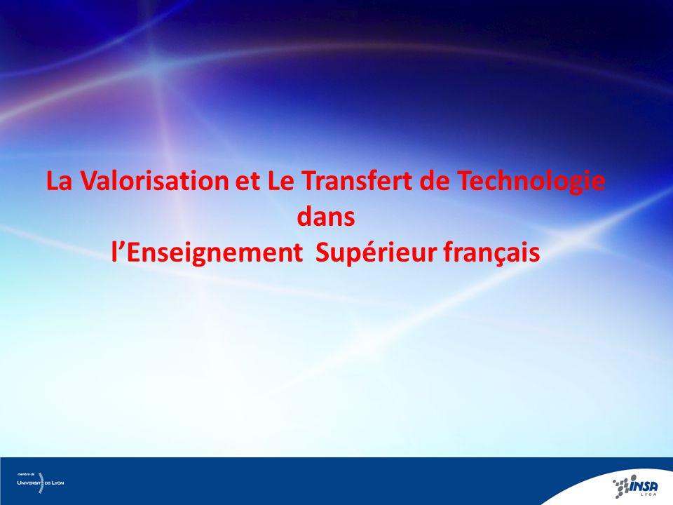 La Valorisation et Le Transfert de Technologie dans