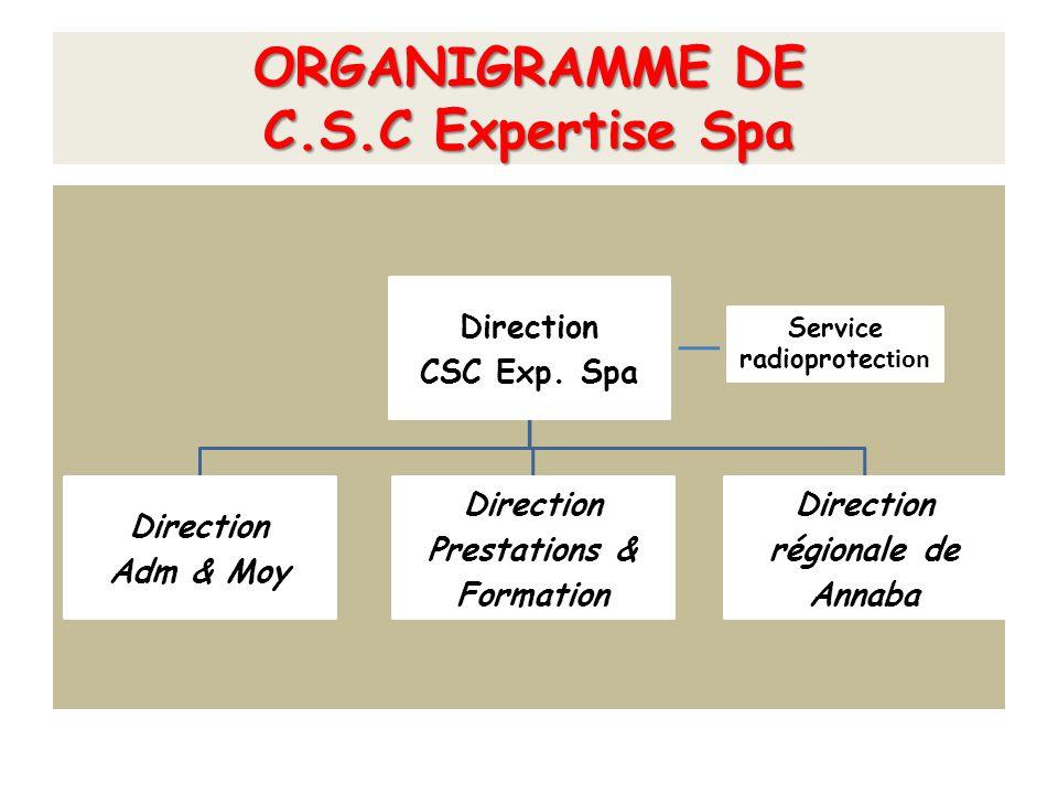 ORGANIGRAMME DE C.S.C Expertise Spa