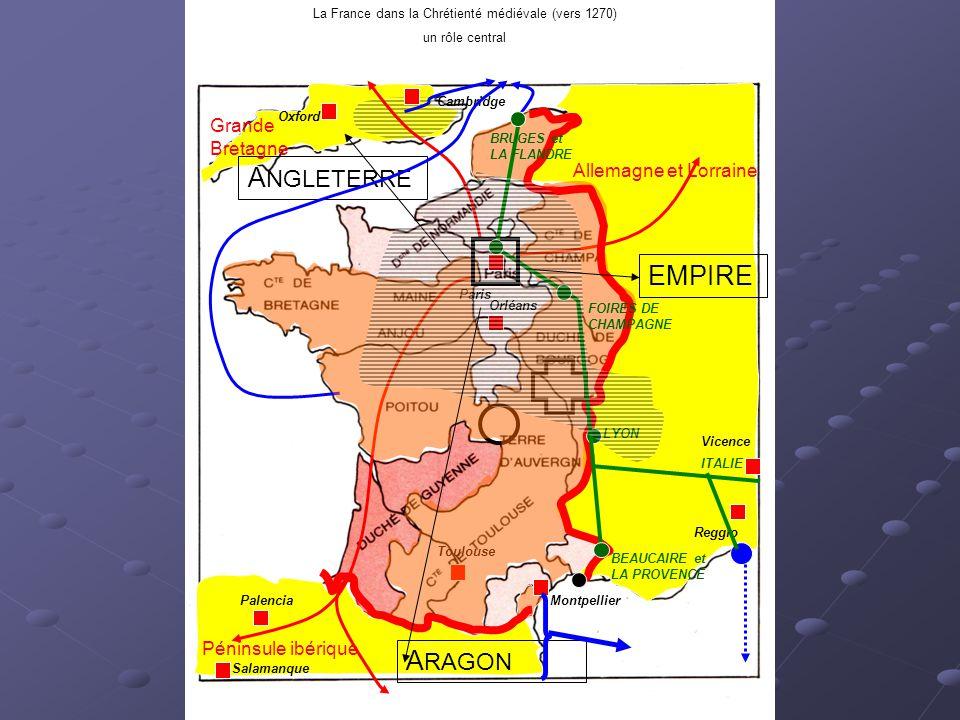 La France dans la Chrétienté médiévale (vers 1270)