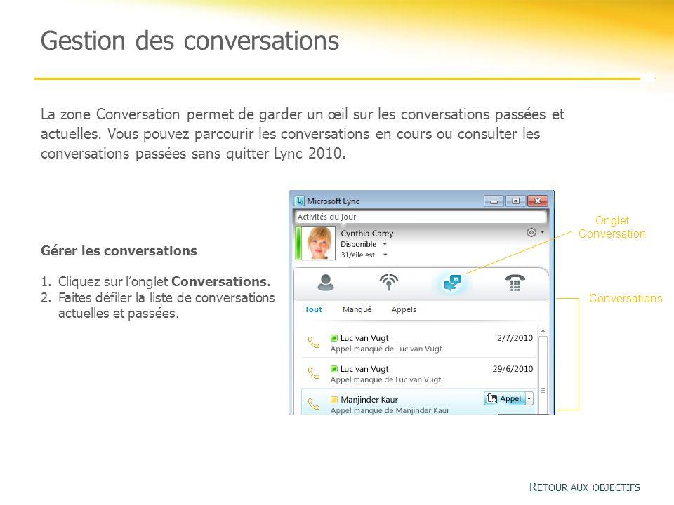 Gestion des conversations