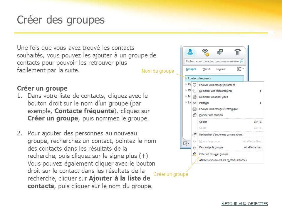 Créer des groupes