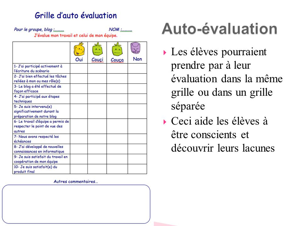 Grille d appr ciation ou d evaluation ppt video online - Grille d evaluation des competences infirmieres ...