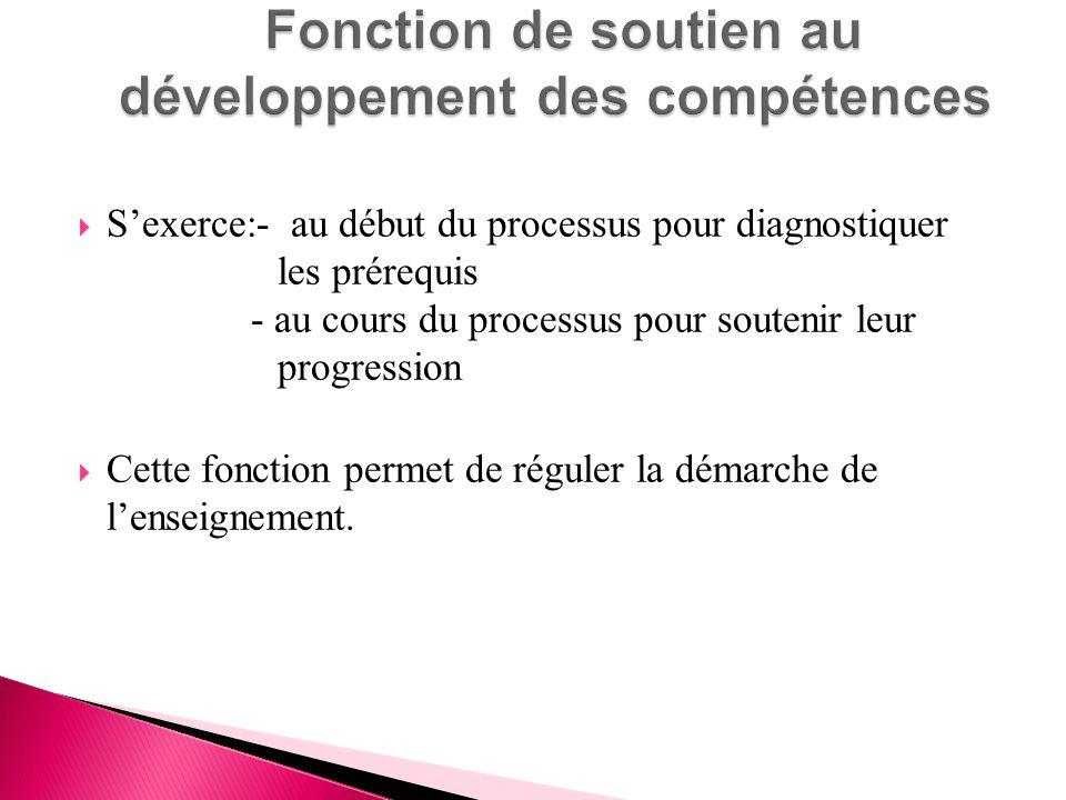 Fonction de soutien au développement des compétences