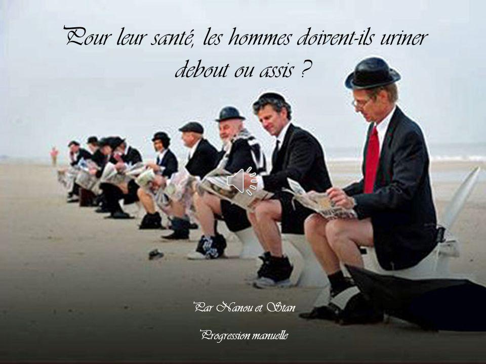 Pour leur santé, les hommes doivent-ils uriner debout ou assis