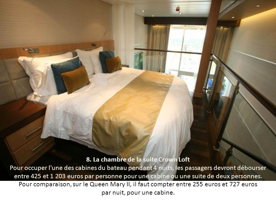 8. La chambre de la suite Crown Loft