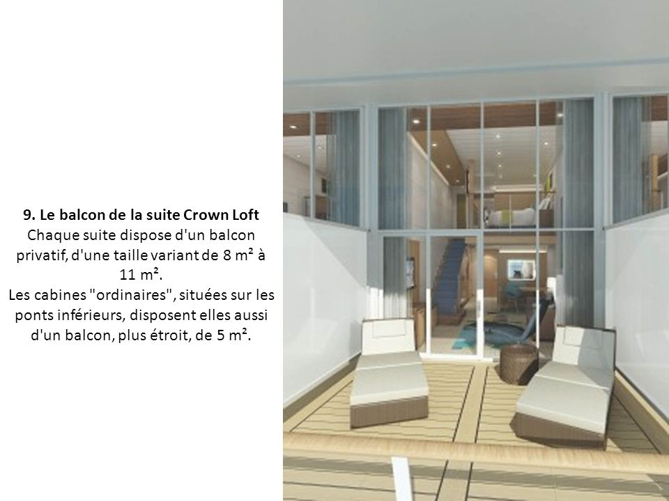 9. Le balcon de la suite Crown Loft