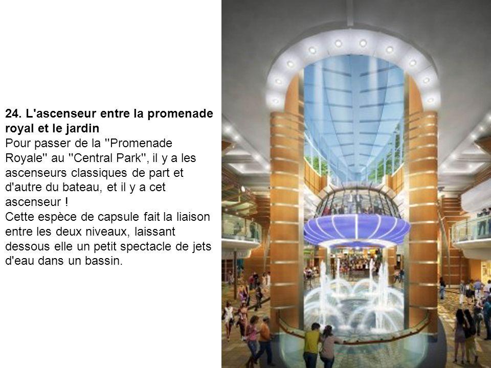 24. L ascenseur entre la promenade royal et le jardin