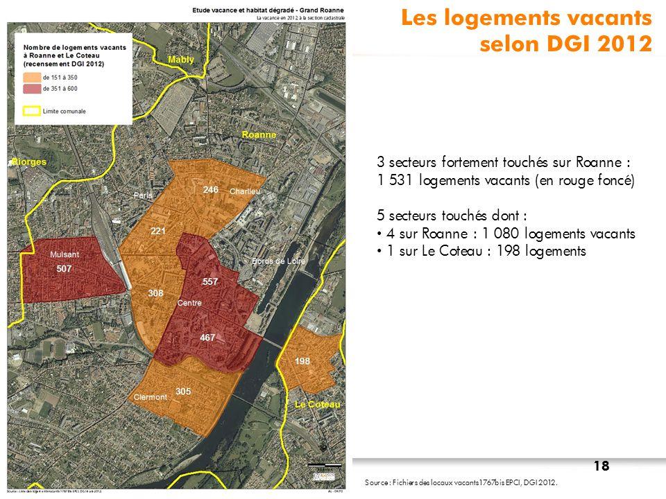 Les logements vacants selon DGI 2012