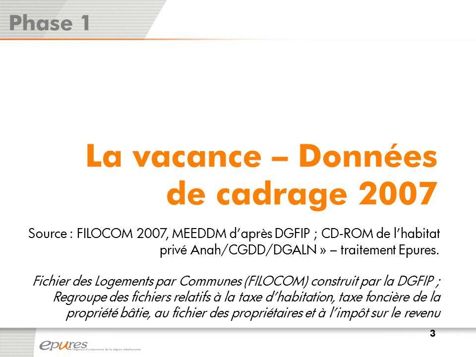 La vacance – Données de cadrage 2007