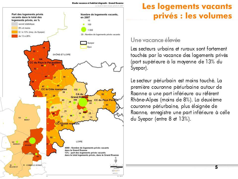 Les logements vacants privés : les volumes