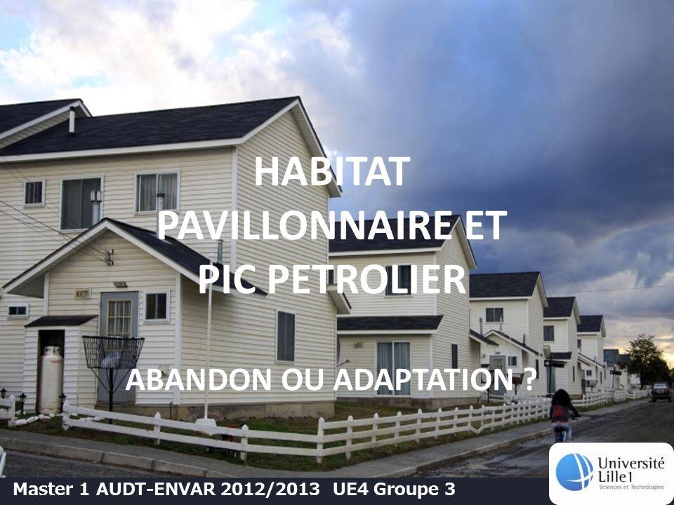 HABITAT PAVILLONNAIRE ET PIC PETROLIER ABANDON OU ADAPTATION