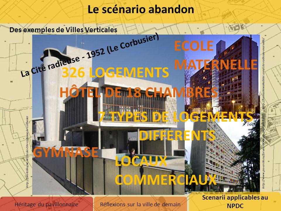 Des exemples de Villes Verticales Scenarii applicables au NPDC