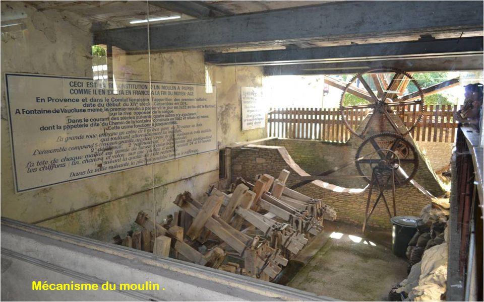 Mécanisme du moulin .