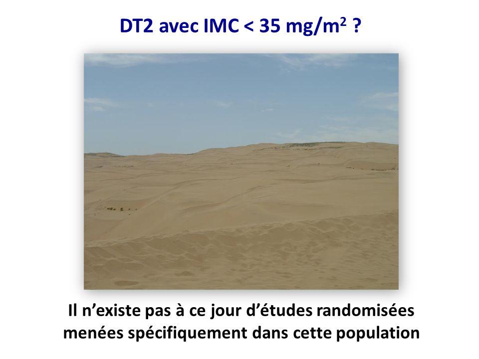 DT2 avec IMC < 35 mg/m2 .