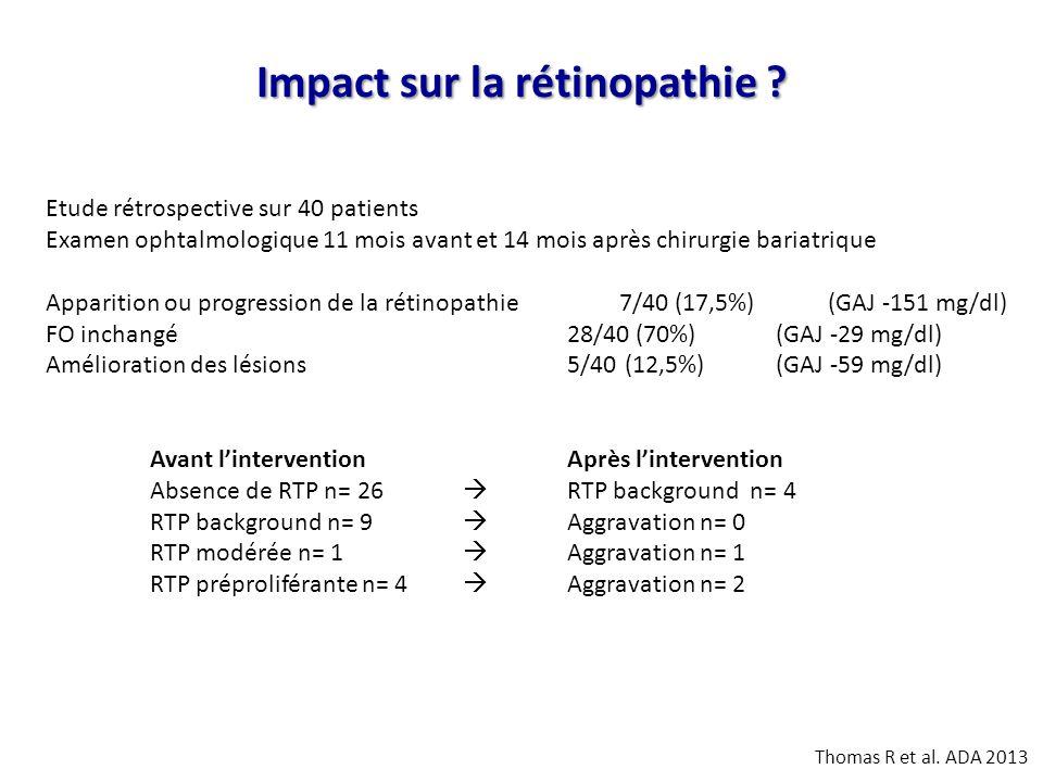 Impact sur la rétinopathie
