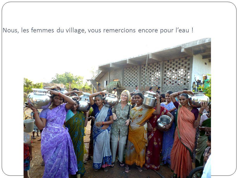 Nous, les femmes du village, vous remercions encore pour l'eau !