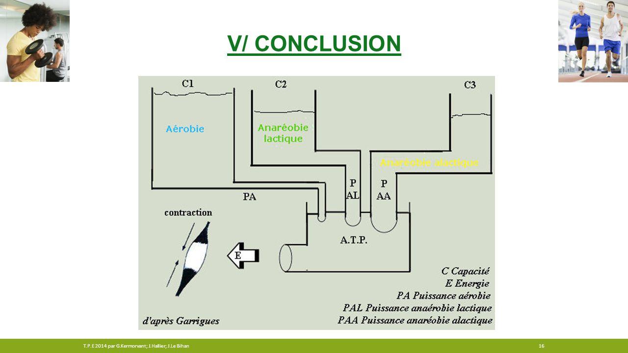 V/ Conclusion T.P.E 2014 par G.Kermorvant; J.Hallier; J.Le Bihan