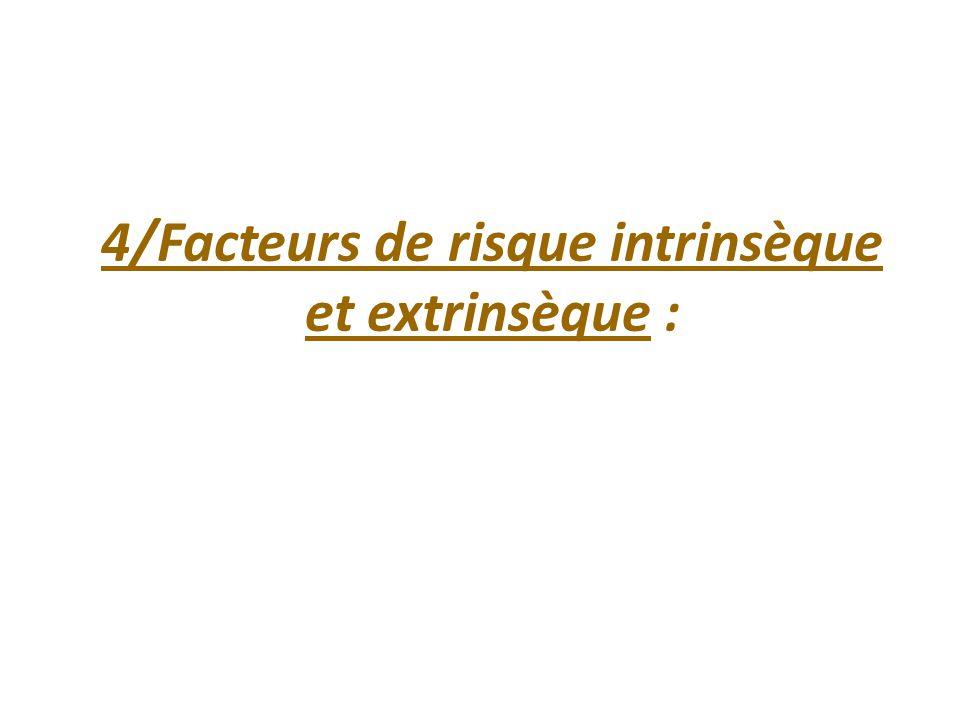4/Facteurs de risque intrinsèque et extrinsèque :