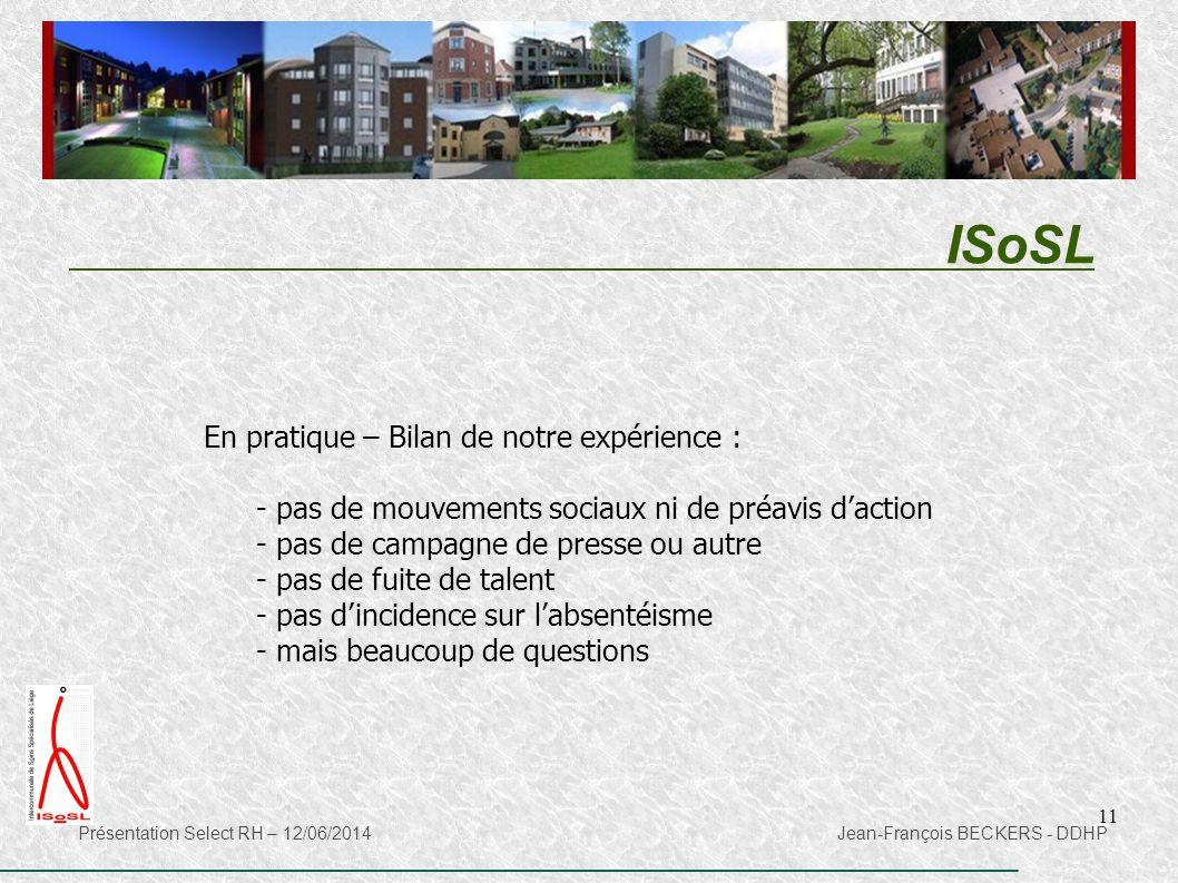 ISoSL En pratique – Bilan de notre expérience :