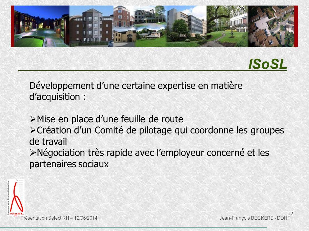 ISoSL Développement d'une certaine expertise en matière d'acquisition : Mise en place d'une feuille de route.