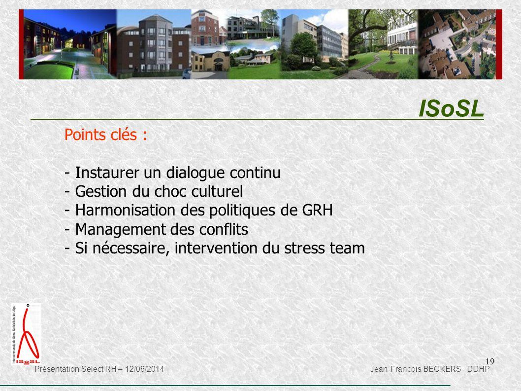 ISoSL Points clés : Instaurer un dialogue continu