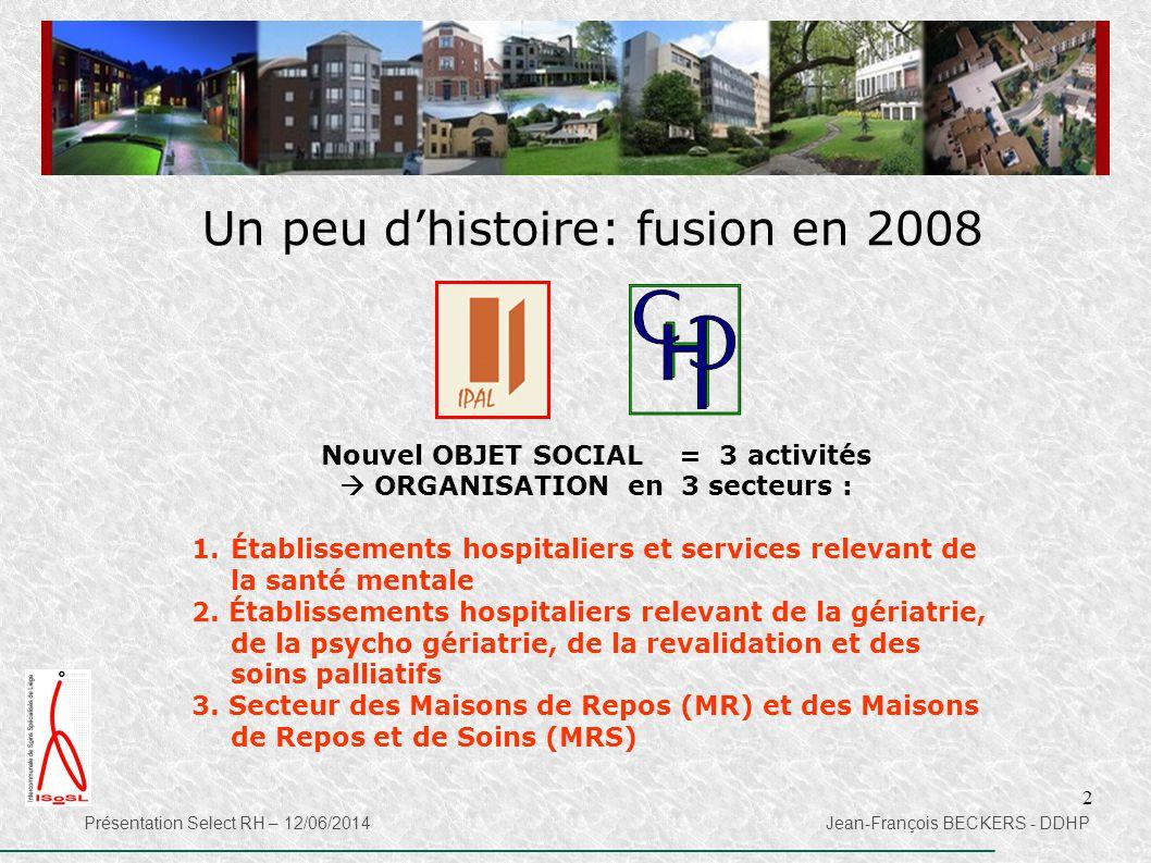 Nouvel OBJET SOCIAL = 3 activités  ORGANISATION en 3 secteurs :