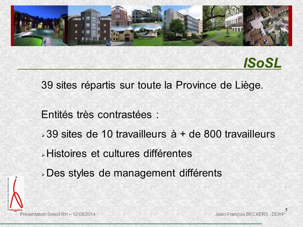 ISoSL 39 sites répartis sur toute la Province de Liège.