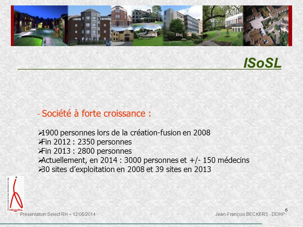 ISoSL 1900 personnes lors de la création-fusion en 2008