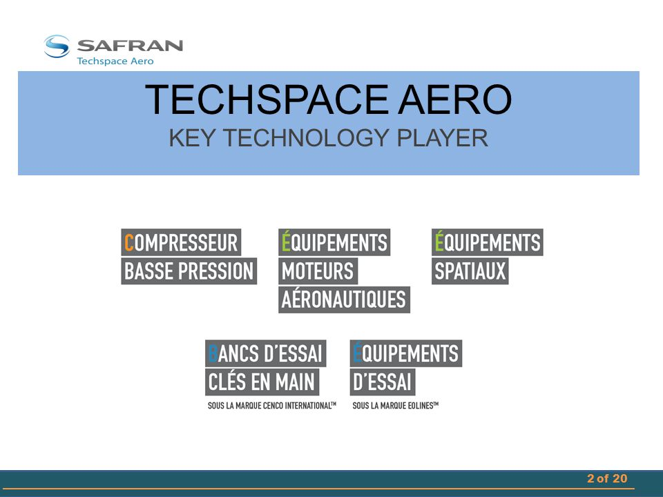 TECHSPACE AERO KEY TECHNOLOGY PLAYER