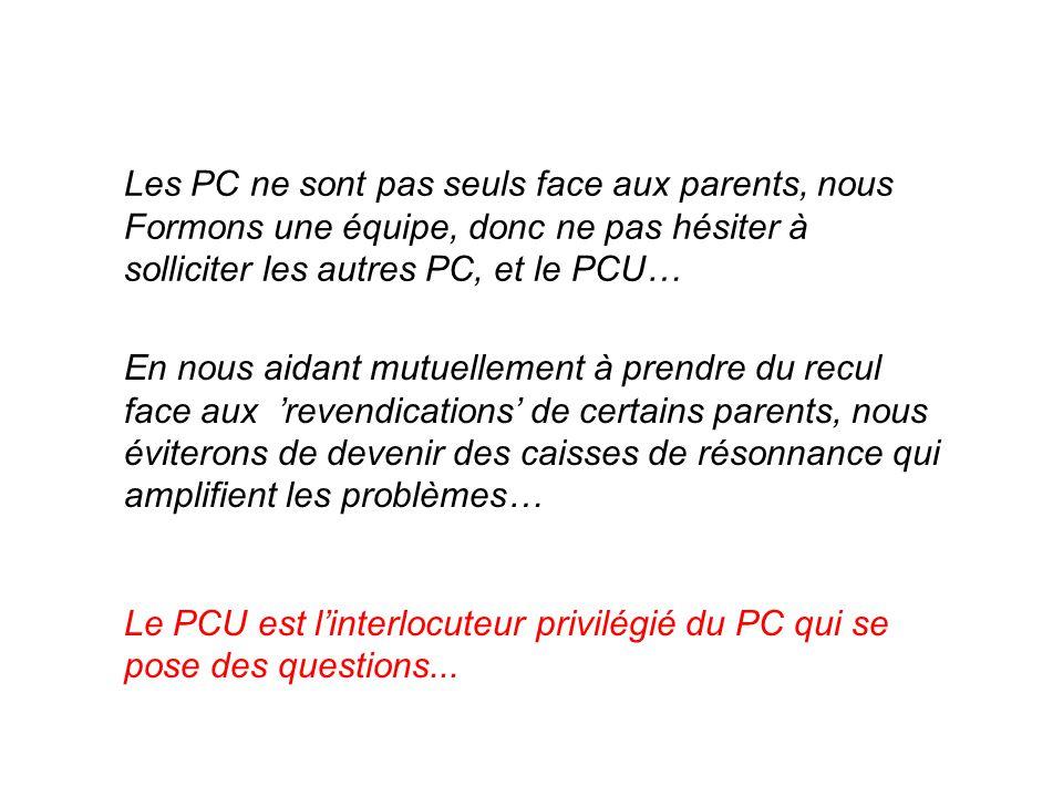 Les PC ne sont pas seuls face aux parents, nous