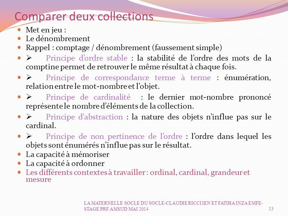 Comparer deux collections
