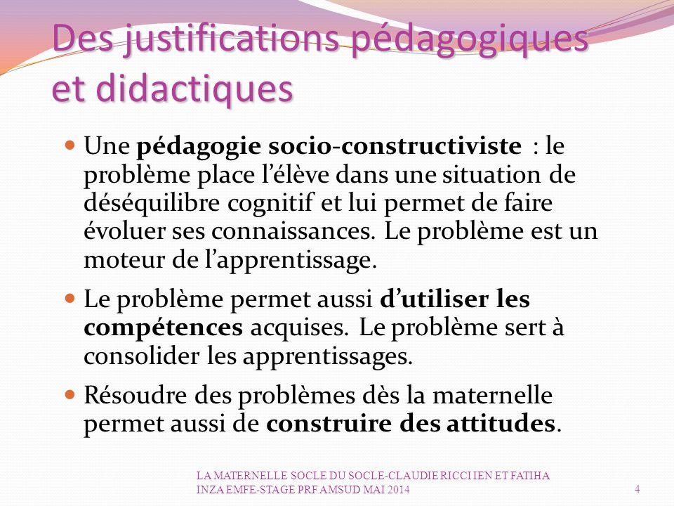 Des justifications pédagogiques et didactiques