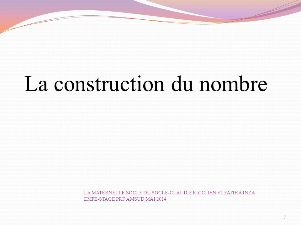La construction du nombre