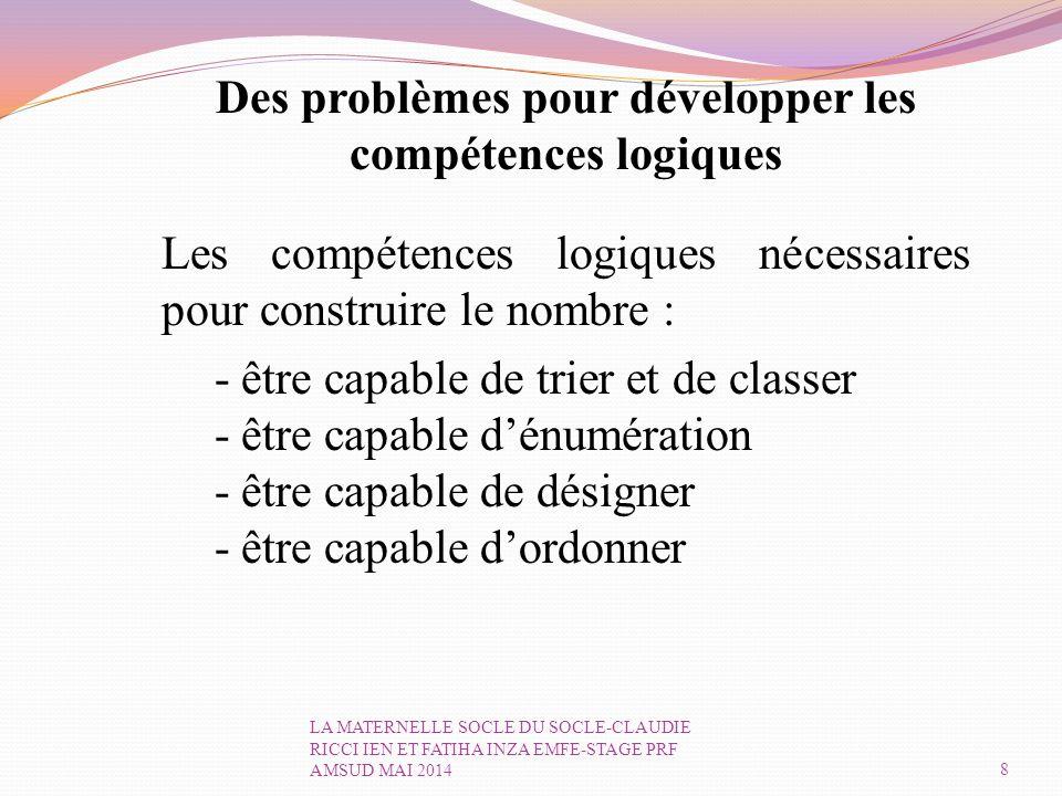 Des problèmes pour développer les compétences logiques
