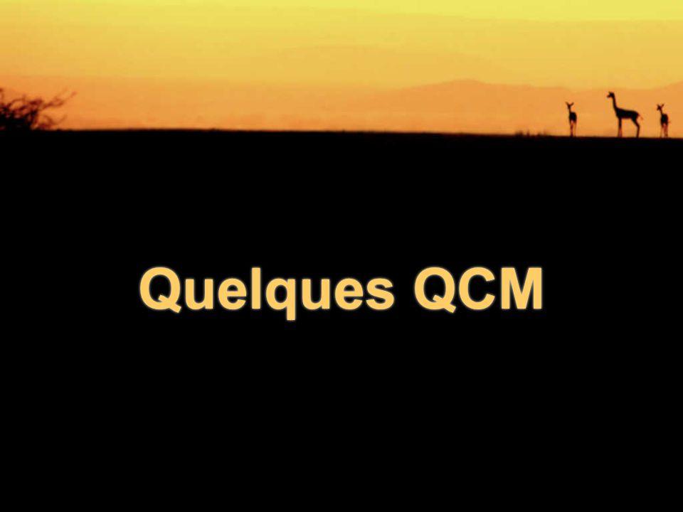Quelques QCM