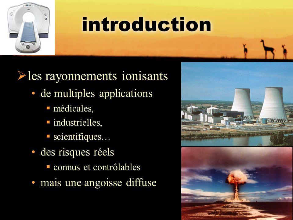 introduction les rayonnements ionisants de multiples applications