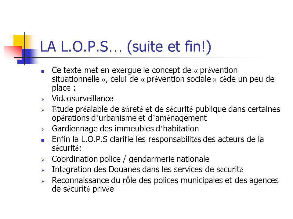LA L.O.P.S… (suite et fin!)